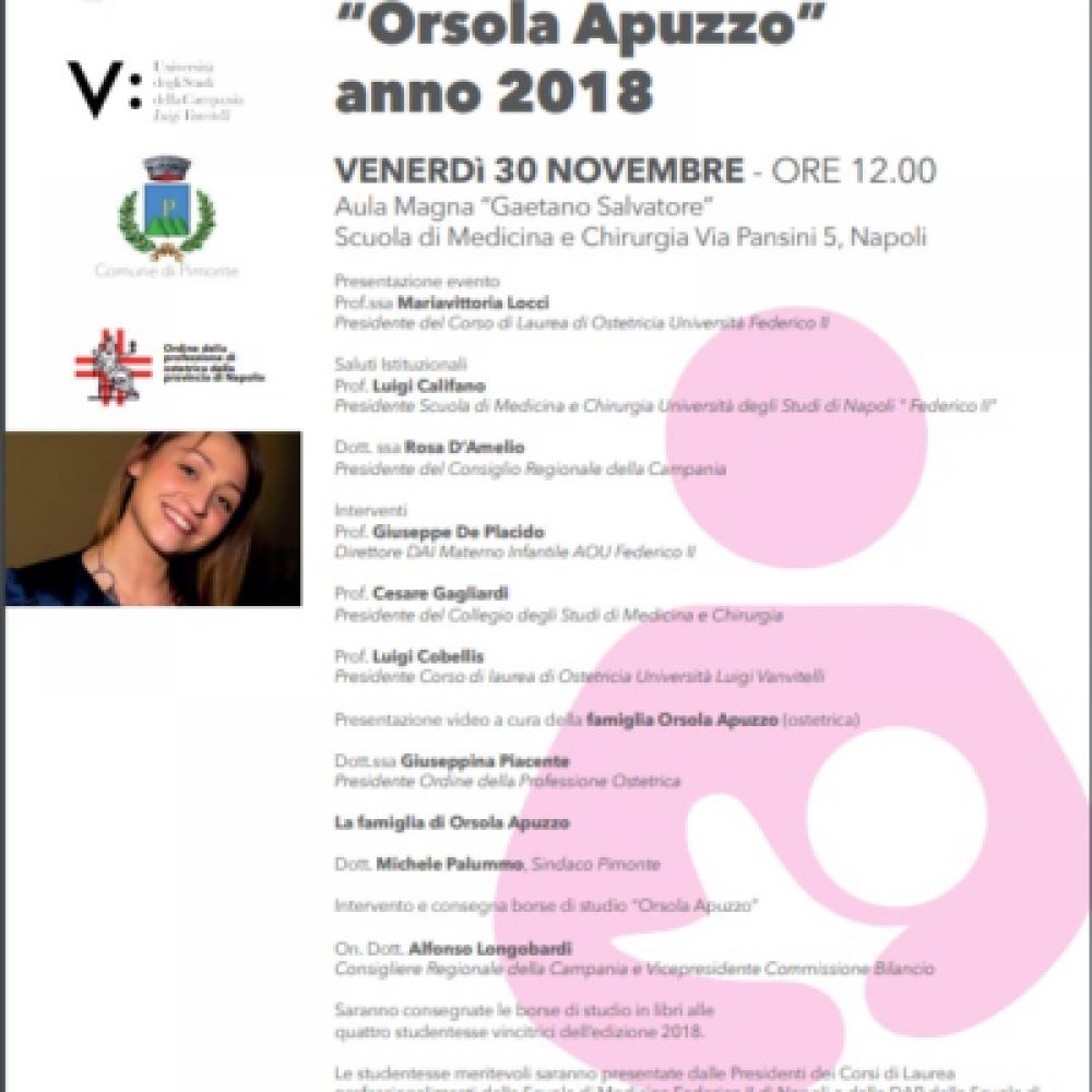 """ALFONSO LONGOBARDI: DOMANI A NAPOLI LA BORSA DI STUDIO """"ORSOLA APUZZO"""" EDIZIONE 2018"""
