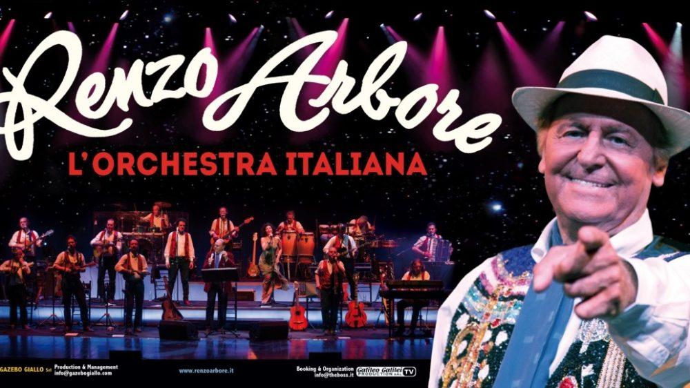 RENZO ARBORE L'ORCHESTRA ITALIANA IN CONCERTO L'11 LUGLIO A NAPOLI ALL'ARENA FLEGREA