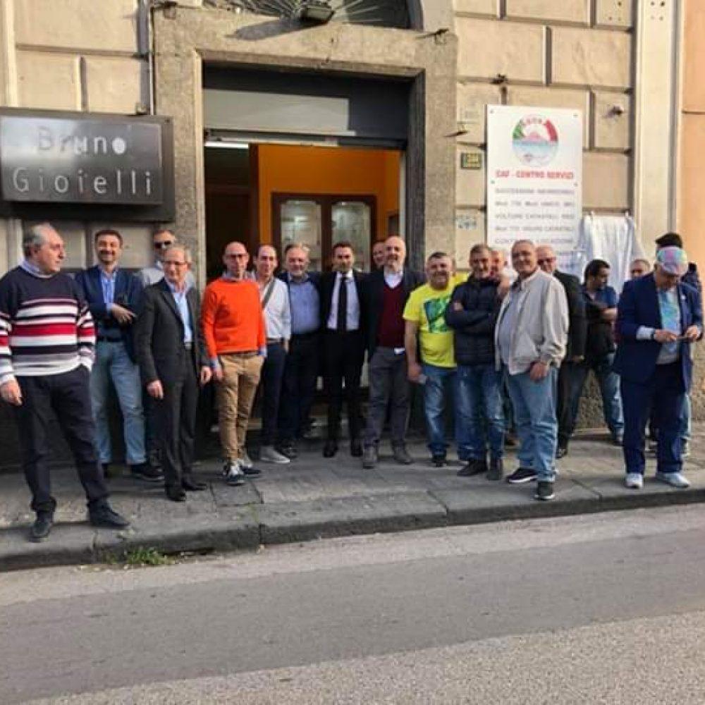 """ALFONSO LONGOBARDI INAUGURA IL CLUB DI """"SVILUPPO E TERRITORIO"""" A BOSCOREALE"""