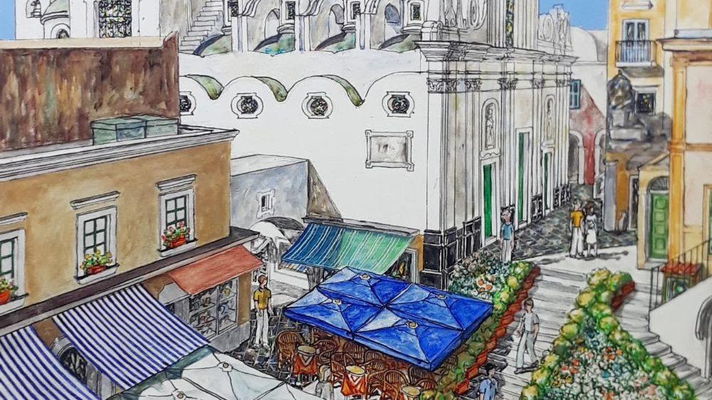 """Capri: """"Omaggio a Simon Uzunovski"""", il pittore-architetto macedone che per oltre quarant'anni ha dipinto Capri."""