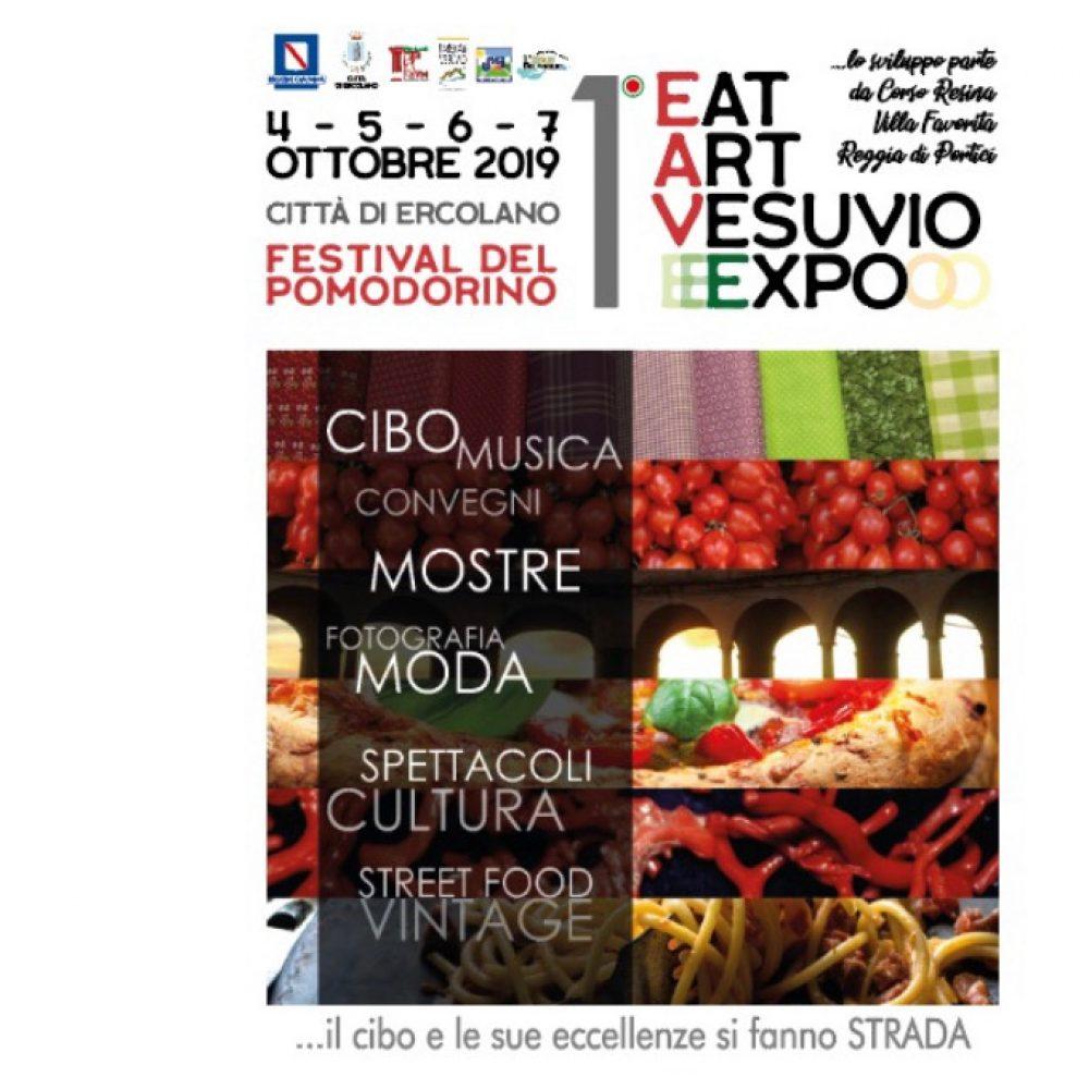 """""""1° EAT ART VESUVIO EXPO"""" Dal 4 al 7 Ottobre, nella città di Ercolano, il cibo e le sue eccellenze si fanno strada"""