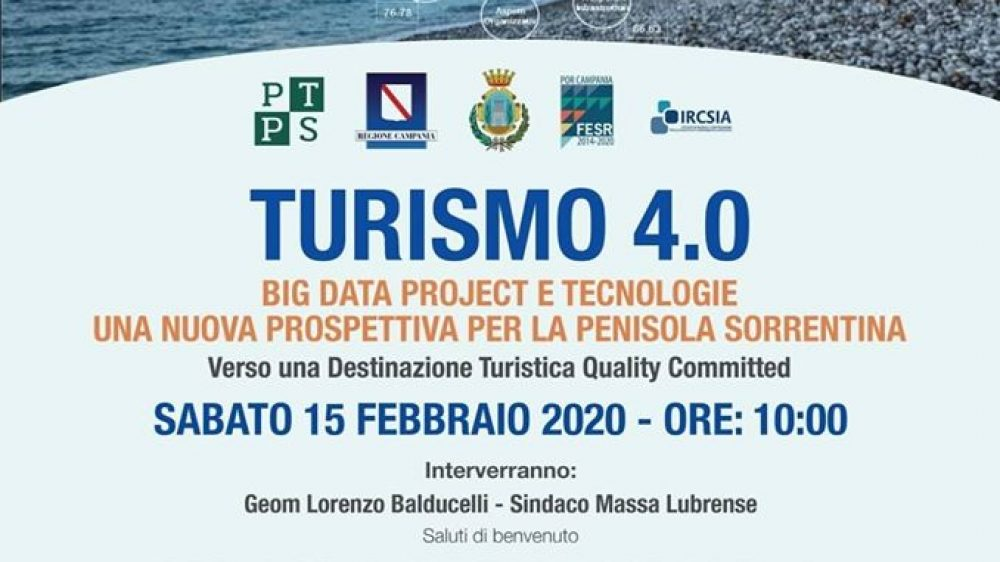 "La Penisola Sorrentina: una destinazione ""Quality Committed"" A Massa Lubrense sabato 15 un workshop sul Turismo 4.0"