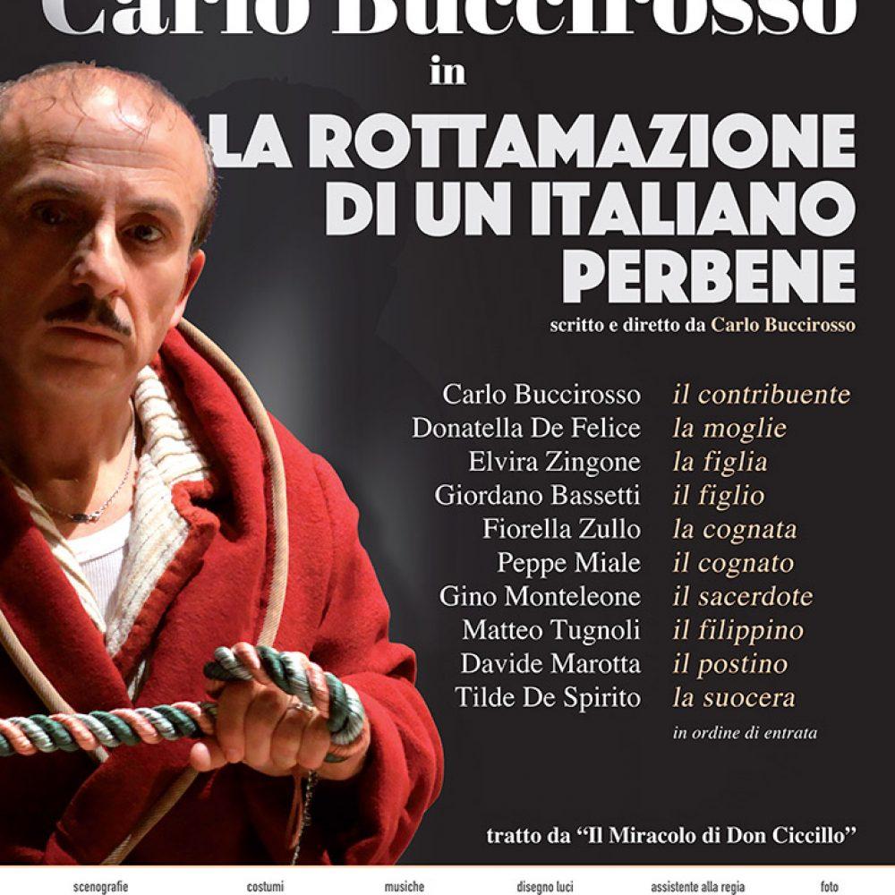 Tutto pronto al Teatro Augusteo per lo spettacolo: La rottamazione di un italiano perbene.