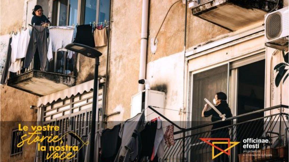 """""""Le vostre storie, la nostra voce"""": gli audio racconti di Officinae Efesti ispirati all'emergenza Covid19"""