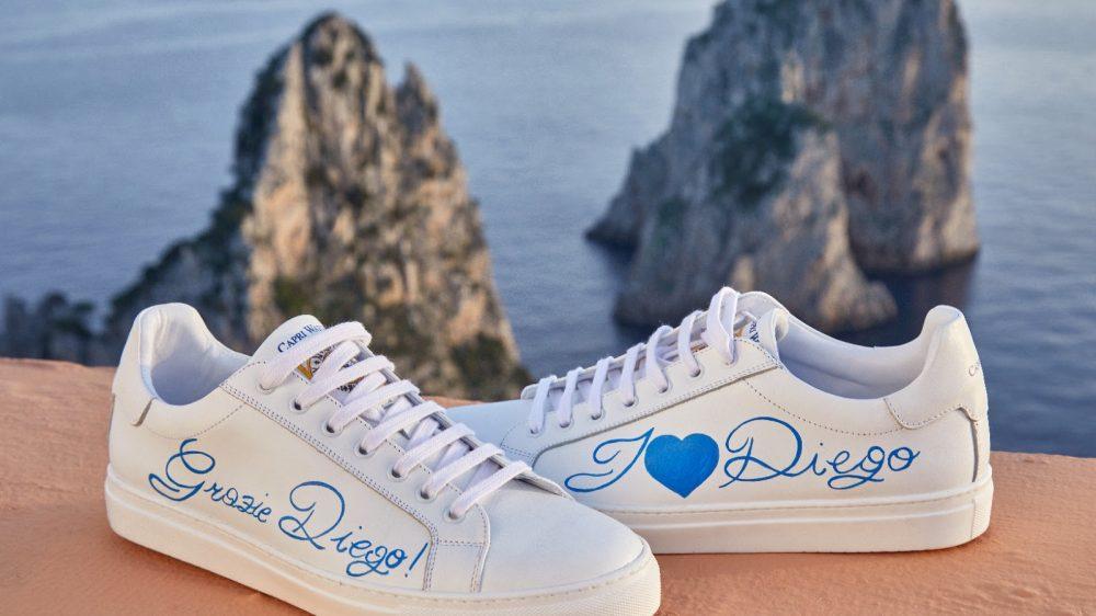 """""""GRAZIE DIEGO""""! Un saluto da Capri"""