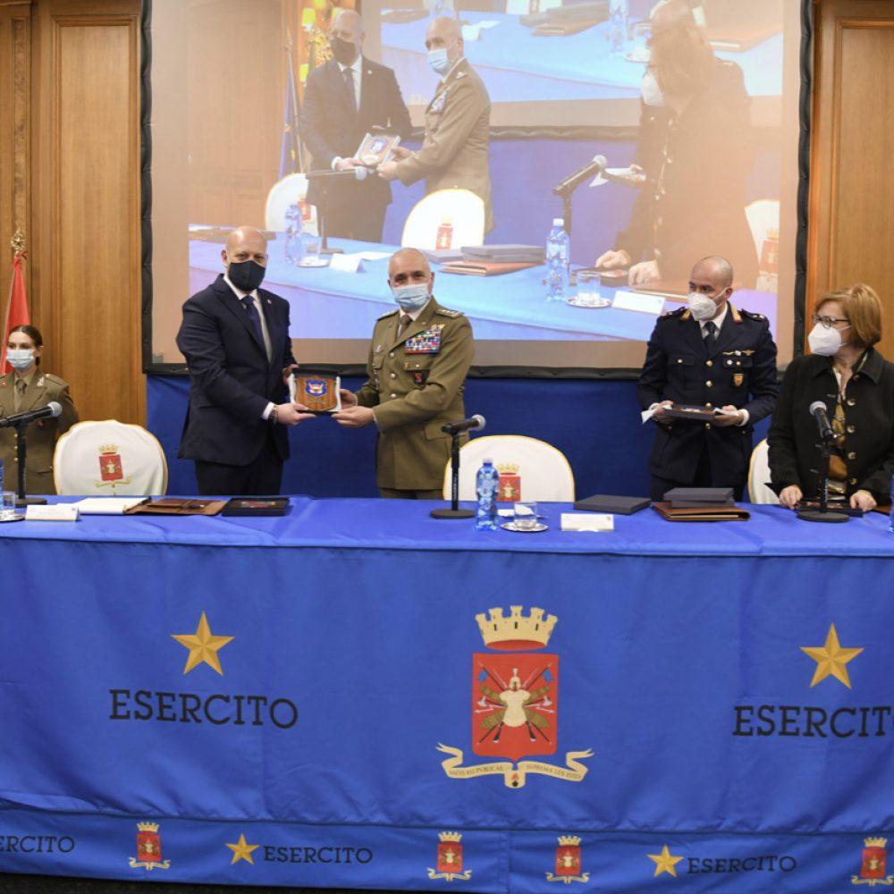 Firmata la convenzione operativa tra il Comando Militare della Capitale e la Union Security S.p.a