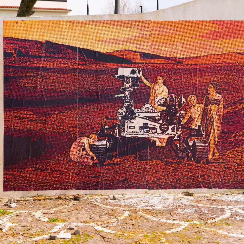 Red Zone: la Street Art di Petrucci mette in comunicazione Pompei con Marte