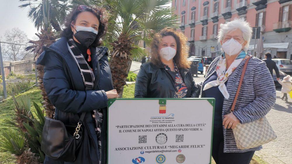 """L'Associazione """"Megaride Felice"""" adotta i giardini di Via Cesario Console."""
