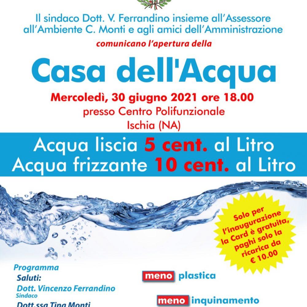 """Ischia, domani l'inaugurazione della nuova """"Casa dell'Acqua"""""""