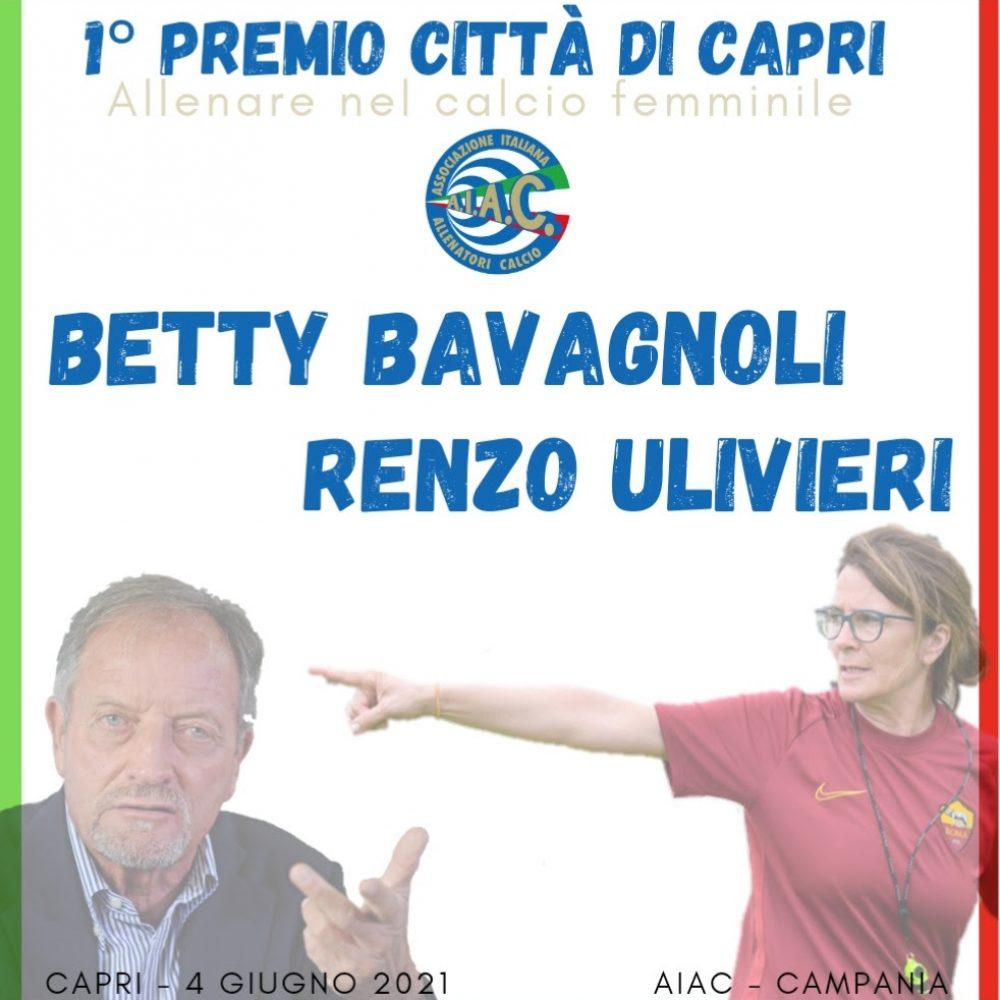 Prima edizione del Premio Capri – Allenare nel calcio femminile