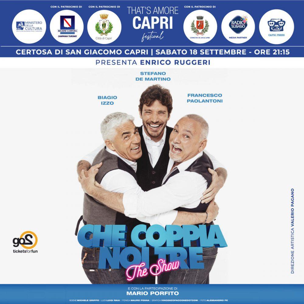 Tornano i grandi eventi sull'isola di Capri, a partire da settembre, grazie al progetto di solidarietà That's Amore Capri.